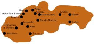 mapa slovenských věznic